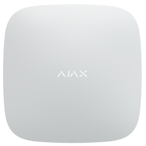 AJAX Central hvid PLUS 2xGSM+WIFI+LAN HUBPLUS-W